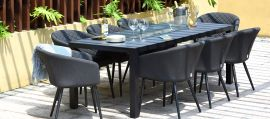 Maze Outdoor Fabric - Ambition 8 Seat Dining Set with Firepit Table