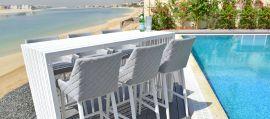 Maze Outdoor Fabric - Regal 6 Seat Bar Set