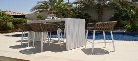Maze Rattan - Marina Rope Weave 4 Seat Bar Set