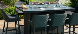 Maze Outdoor Fabric - Regal 8 Seat Bar set with Firepit Table