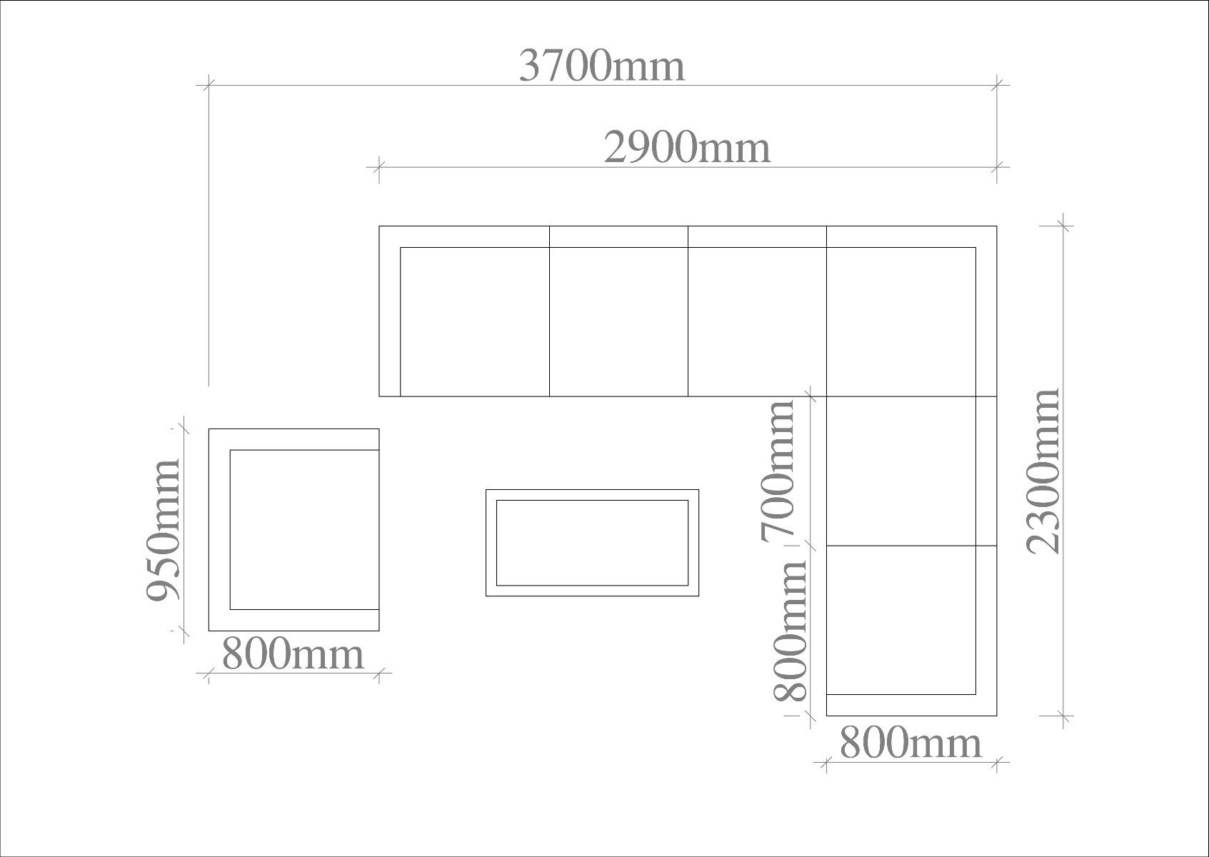 Monako Teak Modular Corner Sofa set